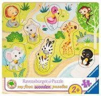 """Ravensburger Kinderpuzzle """"Unterwegs im Zoo"""" 8 Teile ab 2 Jahre Puzzle von Ravensburger"""