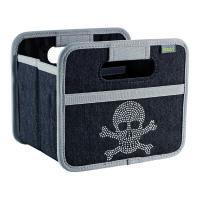 Meori Faltbox Mini Jeans black skull Meori 16,5 x 14 x 2 - 12,5 cm (1,8 Liter)