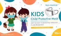 50 x Stk Kinder Mundmaske Kindermaske Mundschutz Kids bunt