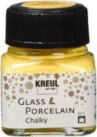 KREUL Glass & Porcelain Chalky Yellow Safran 20 ml Glas- und Porzellanmalfarben Glass & Porcelain Ch