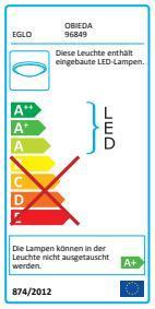 EGLO LED-Deckenleuchte  ANTHRAZIT/WEISS 'OBIEDA' (96849)