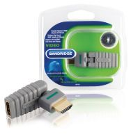 Bandridge High-Speed-HDMI mit Ethernet-Adapter drehbar HDMI Anschluss - HDMI-Buchse Grau