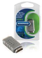 Bandridge High-Speed-HDMI mit Ethernet-Adapter HDMI-Buchse - HDMI-Buchse Grau