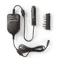 Nedis Universal-Netzteil / KFZ-Adapter / 36 W / 1.5 VDC / 3 VDC / 4.5 VDC / 5 VDC / 6 VDC / 9 VDC / 12 VDC / Ausgangsstecker Typ: 0.7 x 2.35 mm / Mini USB / 1.35 x 3.5 mm / 1.7 x 4.0 mm / 1.7 x 4.75 mm / 2.1 x 5.5 mm / 2.5 x 5.5 mm / 1.20 m / Eingang