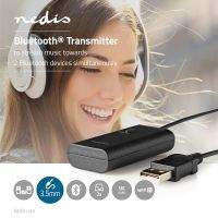 Nedis Bluetooth® Transmitter / Anschlüsse – Eingang: 1x 3.5 mm / AptX ™ Low latency / AptX™ / SBC / Bis zu 2 Geräte / Schwarz