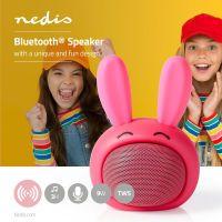 Nedis Bluetooth®-Lautsprecher / Batteriespielzeit: bis zu 3 Stunden / Handgerät / 9 W / Mono / Eingebautes Mikro / Verknüpfbar / Animaticks Robby Rabbit / Pink