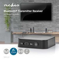 Nedis Bluetooth® Transceiver / Anschlüsse – Eingang: 1x AUX / Anschlüsse – Ausgang: 1x AUX / SBC / Bis zu 1 Geräte / bis zu 6 Stunden / Automatische Ausschaltfunktion / Schwarz