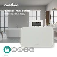 Nedis Digitale Personenwaagen / Digital / Weiß / Gehärtetes Glas / max. Wiegekapazität: 150 kg
