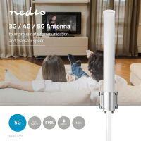 Nedis 5G / 4G / 3G Antenne / 5G / Für den Außenbereich / 698 - 5000 MHz / Verstärkung dBi (bei Antennenkabel): 6 dB / 7.0 m / Weiss