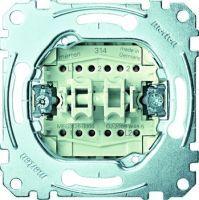 Merten Doppelwechselschalter-Einsatz 1-polig 10 AX AC 250 V Steckklemmen