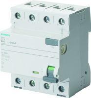 Siemens Fehlerstromsschutzschalter / FI 4p Typ A 40 A 30 mA 400 V