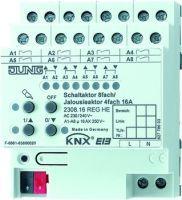 Jung Jalousie-/Schaltaktor 4-/8fach REG Busankoppler elektr. Handbedienung