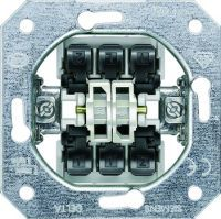 DELTA Schalter-Geräteeinsatz UP, Doppel-Wechselschalter 10A