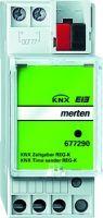 677290 KNX Zeitgeber REG-K, lichtgrau