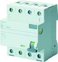 Siemens Fehlerstromsschutzschalter 4p Typ A kurzzeitverz. 40A 30mA therm. Überlastschutz