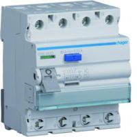 Hager Fehlerstrom-Schutzschalter 4-polig 40 A 30 mA Typ AC QuickConnect