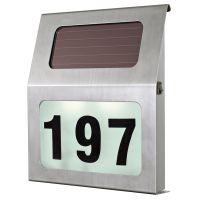 EGLO LED-SOLAR-HAUSNUMMER 2XLED EDELSTAHL (90497)