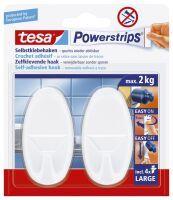 TESA 58013-00049 Handtuchhaken Weiß 2Stück(e)