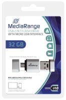 MEDIARANGE 32GB USB Mobile 2 in 1 OTG 32GB USB 2.0 Capacity Silber USB-Stick