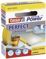 TESA 56341-00030-03 19mmx2,75m Gewebeband Perfect gelb