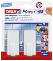 TESA 58010-00044 Handtuchhaken Weiß 2Stück(e)