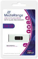 MEDIARANGE MR917 64GB USB 3.0 (3.1 Gen 1) USB-Anschluss Typ A Schwarz - Silber USB-Stick