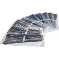 Multipack 100 Stück Haupa Vorteilspaket Kabelbinder schwarz UV-beständig 371 x 4,6 mm