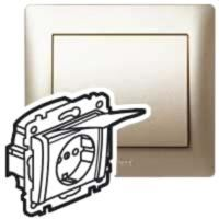 Steckdose mit Klappdeckel u.Berührungschutz Galea Titanium