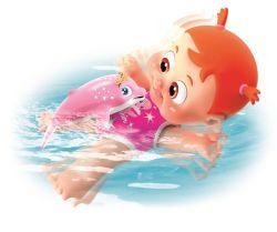bauncin babies BB Bonny schwimmt mit Delfin