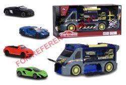 Majorette Race 'n Carry Van + 4 Cars
