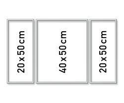 Malen nach Zahlen MNZ - Alurahmen Tripty. Silber 50x80 cm