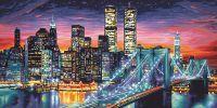 Malen nach Zahlen MNZ - Manhattan bei Nacht