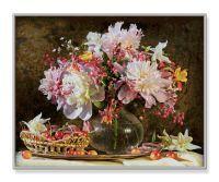 Malen nach Zahlen MNZ - Blumenstrauß mit Kirschen