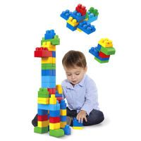 Mattel Mega Bloks Bausteinebeutel – Medium 60 Teile – Grundfarben
