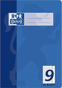 Oxford 384501609 A5 16Blätter Blau Notizbuch