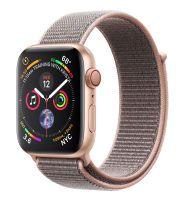 Apple Watch Series 4 GPS + Cellular, Aluminium gold, 44 mm mit Sport Loop, sandrosa