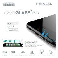 nevox NEVOGLASS 3D - Apple iPhone 8 Plus curved glass mit Easy App schwarz