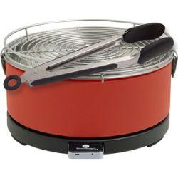 Feuerdesign Mayon rot Holzkohle Tischgriller mit Grillzange