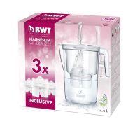 BWT Tischwasserfilter Vida 2,6l weiß 3 Kartuschen mit wertvollem Magnesium