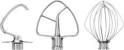 KitchenAid Zubehör für Küchenmaschine 4.3L &  4.8L Edelstahlrührer - 3er Set (5KSM5TH3PSS)