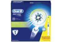 Oral-B Pro 690 Elektrische Zahnbürste mit 2 Handstücken