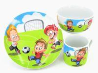 RETSCH Kindergeschirr Porzellan Fussball 3tlg. ()
