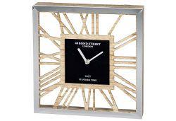 Uhr Holz/Metall 30x30cm (9332016)