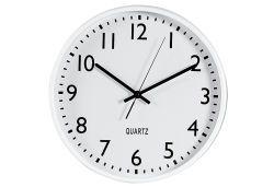 Wanduhr weiß ø37cm 1x AA Batte (9331344)
