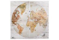 Wandbild Holz Welt 4tlg (120350)