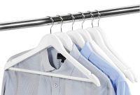 KESPER Kleiderbügel mit Steg FSC Lotusholz 44,5cm weiß 6er Pack (91267)