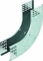 OBO Bogen 90° Magic vertikal steigend Stahl bandverzinkt 110x300 mm