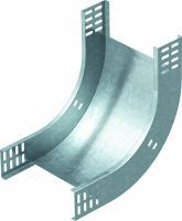 OBO Bogen 90° vertikal steigend Stahl bandverzinkt 60x100 mm