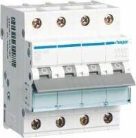 HAGER MCN625 Leitungsschutzschalter 3p+N, C-25A, 6kA 25A