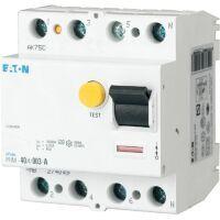 Eaton Fehlerstromschutzschalter 4-polig 63A 30mA Typ A